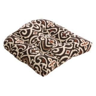 Brown/Beige Damask Chair Cushion   Specialty Pillows at