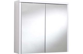 Montana Double Swivel Mirror Door Bathroom Cabinet   White from