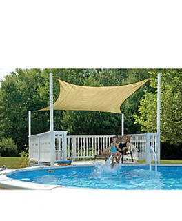 ShadeLogic™ SunShade Sail, 16 ft. x 16 ft. Square, Sand   1023243