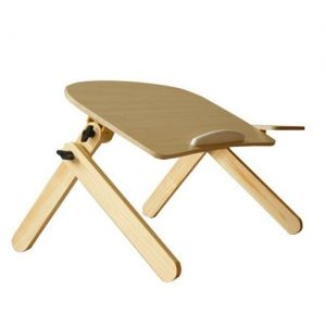 Foldable Adjustable Computer Laptop Table Desk Bed Tray Stand Wood