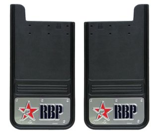 RBP Mud Flaps (shown with chrome trim) Go for the brilliant polished