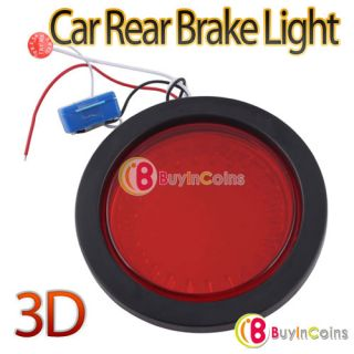 Universal Auto Car Trunk 3D Style Red LED Light Car Rear Tail Brake