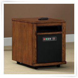 Twin Star 6 Element Infrared Quartz Power Heater   Warm Oak