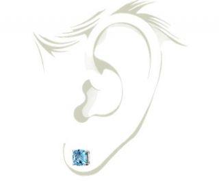 Swiss Blue Topaz Earrings in Sterling Silver (8mm)  Blue Nile