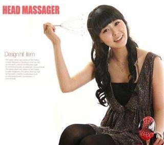 Head Neck Scalp Massager Massage Stress Release Red   Tmart