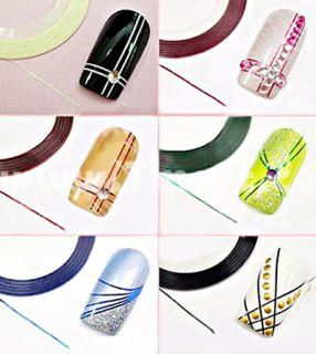 10 Color Striping Tape Line Nail Art Decoration Sticker   Tmart