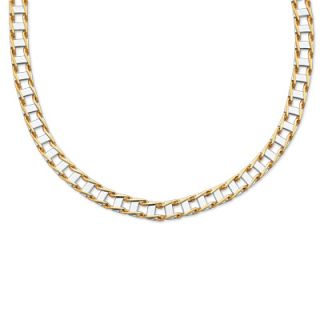 14K Two Tone Gold Railroad Link Necklace   20   View All Necklaces