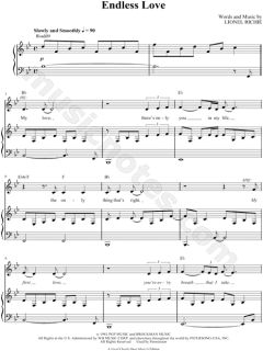 Download sheet music for Endless Love. Choose from sheet music for