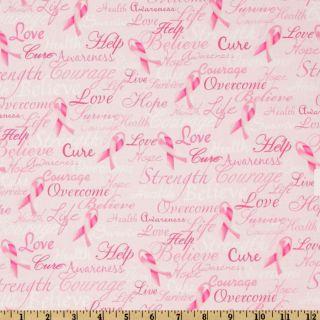 Ribbons Of Hope Pink   Discount Designer Fabric   Fabric