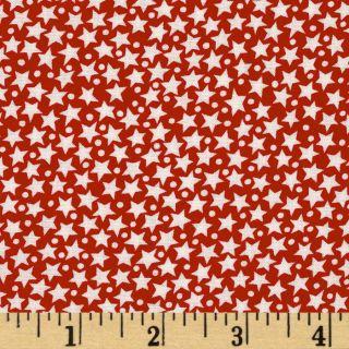 Red, White & True Blue Stars Red   Discount Designer Fabric   Fabric