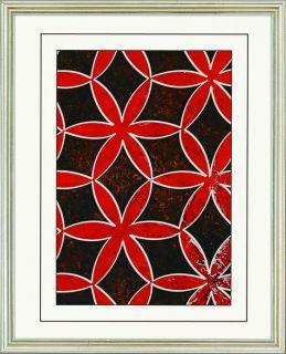 Textiles Wall Art   Set of 6   Framed Art   Wall Decor   Home Decor