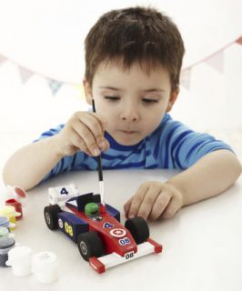 Make Your Own Wooden Racing Car   craft & felt kits   Mothercare
