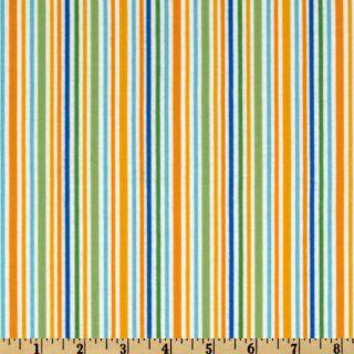 Riley Blake Zoofari Flannel Stripe Orange   Discount Designer Fabric