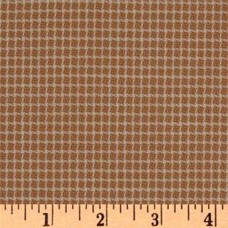 Wool Suiting Checks White/Dark Peach   Discount Designer Fabric