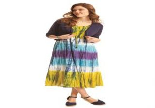 Plus Size Petite dress in cool cotton with 3 tiers  Plus Size Petite