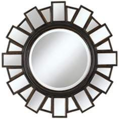 Mirrored Frame 35 1/2 Wide Moonlight Wall Mirror
