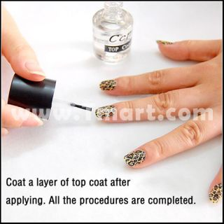 14pcs Nail Art Stickers Decals (Consist of White, Black, Orange