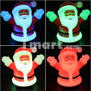 Colorful LED light Santa Claus Nightlight Lamp Red   Tmart