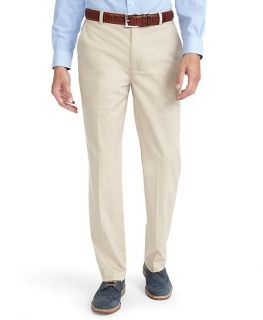 Clark Plain Front Cotton Lycra® Pants   Brooks Brothers