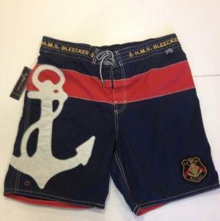 Ralph Lauren Polo Bleecker Mens Swim Trunks Shorts XL Nautical NWT $
