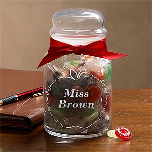 Personalized Teacher Candy Jar with Chocolates   6432