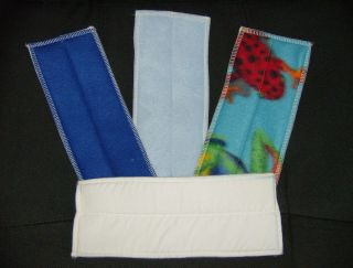 Cloth Diaper Liners Doublers 10 x 4 made with FLeece, Flannel and ZORB