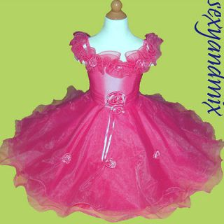 WD06 Holiday Gift Flower Girls /Party Baby Dress 6 12Months