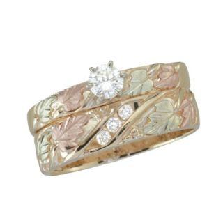 Black Hills Gold 1/3 CT. T.W. Diamond Bridal Set   View All Rings