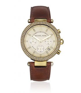 Michael Kors   Michael Kors Brown Chronograph Watch at Harrods