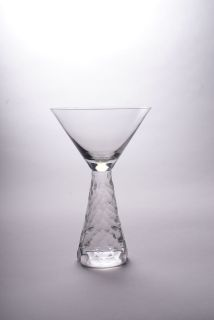Arctic Romanian Crystal Martini Cocktail Glass Glassware Barware 12oz