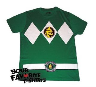 Power Rangers Green Ranger Costume Licensed Adult Green T Shirt S 3XL