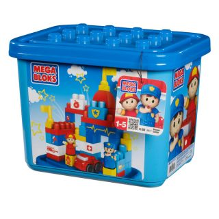 Mega Bloks Rescue Center Building Set in Tub at Brookstone—Buy Now!