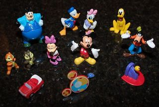 NEW MICKEY MOUSE CLUBHOUSE PLAYSET w/ 12 FIGURES TOY FIGURINES CAKE