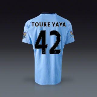 Umbro Yaya Toure Manchester City Home Jersey 12/13  SOCCER