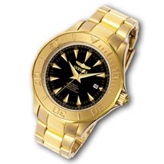 Zales   Mens Invicta Ocean Ghost III Gold Tone Watch with Black Dial
