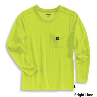 Carhartt Womens Color Enhanced Long Sleeve Work Dry T Shirt (Style #