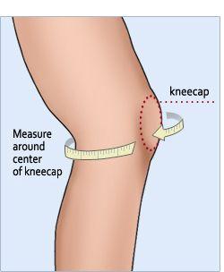 FootSmart Mens / Womens Graduated Compression Knee Sleeve