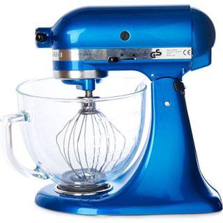 Artisan mixer electric blue glass bowl   KITCHEN AID   Food mixers