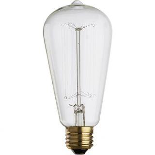 vintage 60W filament bulb in pendant lamps  CB2
