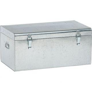 versus galvanized trunk in storage  CB2