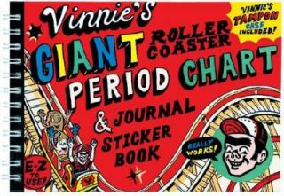 Vinnies Giant Roller Coaster Period Chart and Journal Sticker Book by