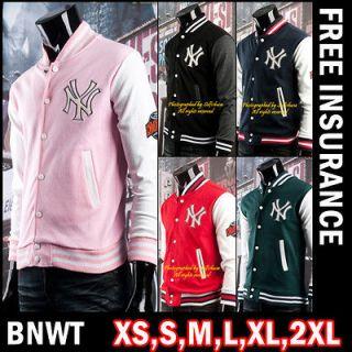 BNWT Women Girl NY Baseball College Varsity Letterman Jacket Jackets