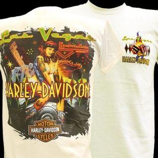 Davidson Las Vegas SeXy BIKINI PINUP GIRL T  Shirt WHT LG 302970030WLG