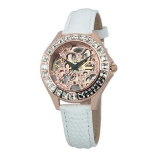 Burgmeister Ladies Rose Gold/White Automatic Watch