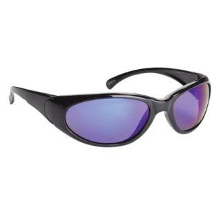 Fisherman Eyewear Reef Sunglasses   Black Frame/Polarized Blue Mirror