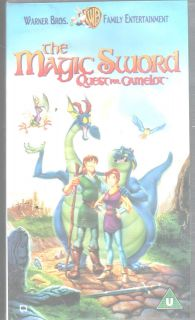 MAGIC SWORD THE QUEST FOR CAMELOT VHS PAL UK