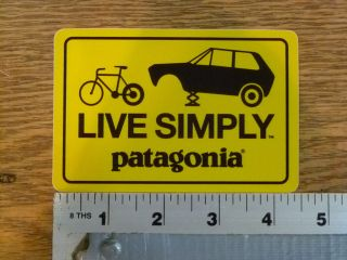Patagonia Live Simply Car/Bike Stickers Decals