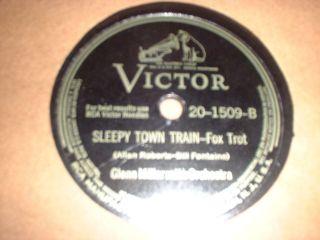 78RPM Victor 20 1509 Glenn Miller, Juke Box Saturday Night, Sleepy
