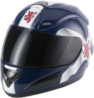 CAN V100 FIBREGLASS SCOTLAND MOTORCYCLE MOTORBIKE HELMET SCOTS
