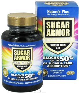 Buy Natures Plus   Sugar Armor Sugar Blocker Weight Loss Aid   60